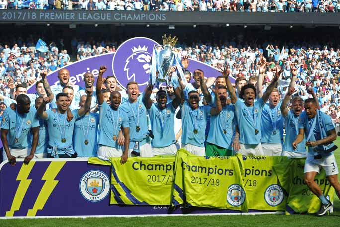 Man City celebrate their win. Credit: Shutterstock