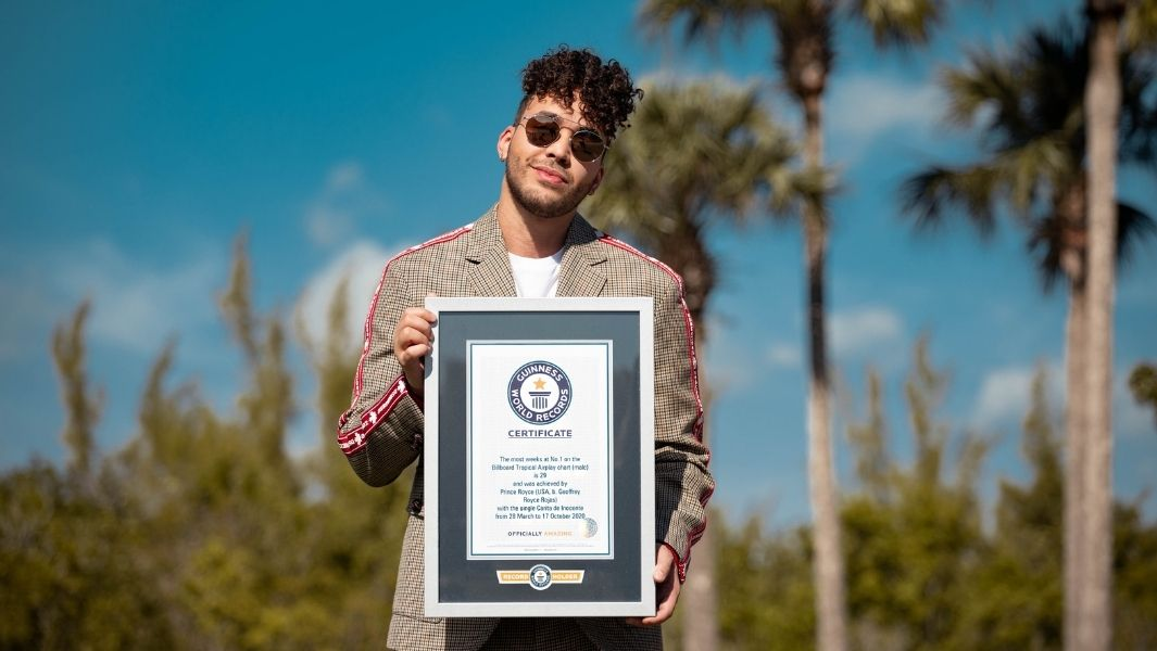 PRINCE ROYCE ES RECONOCIDO OFICIALMENTE POR GUINNESS WORLD RECORDS™